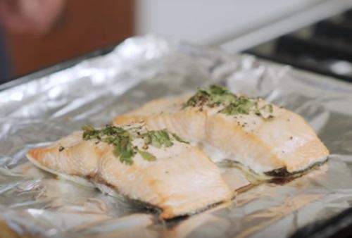Roasted Salmon Fillets Davita
