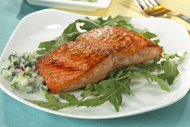 Honey Spice Rubbed Salmon