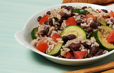 Zucchini Black Beans and Rice Supper