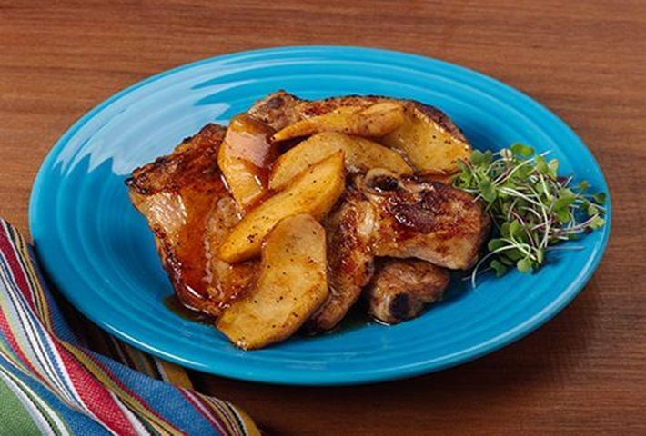 Apple Spice Pork Chops