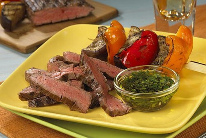 Grilled Flank Steak and Vinaigrette Vegetables