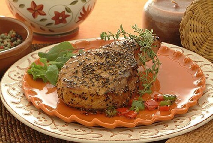 Peppercorn Pork Chops