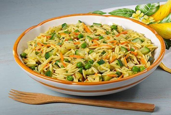 Creamy Orzo and Vegetables
