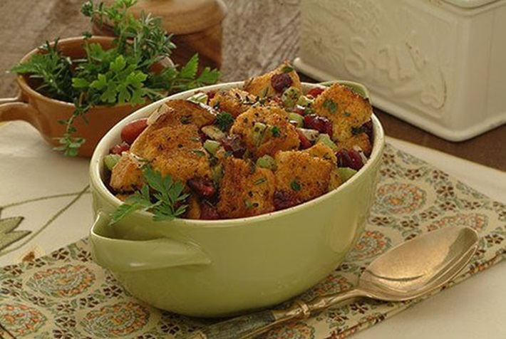 Fresh Herb Cranberry Stuffing