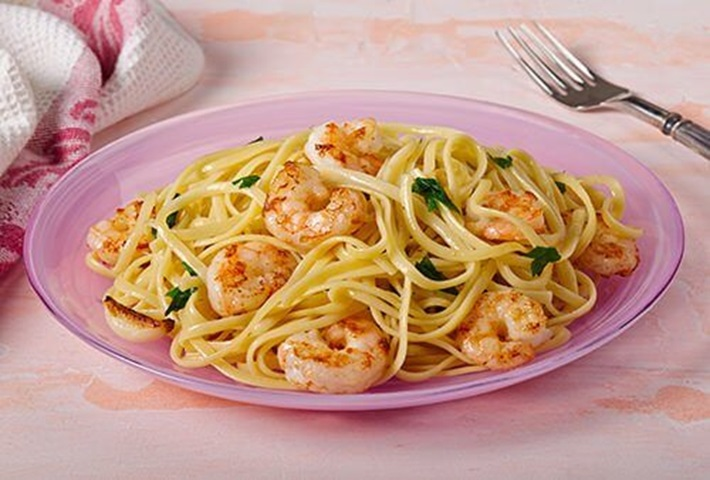 Linguine with Garlic and Shrimp