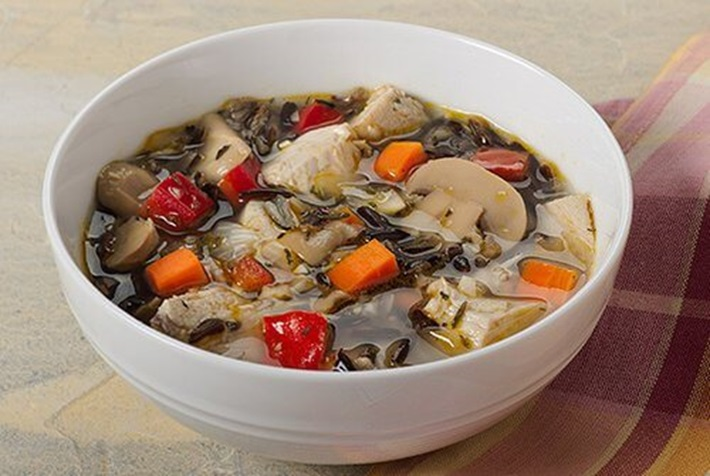 Turkey Wild Rice and Mushroom Soup