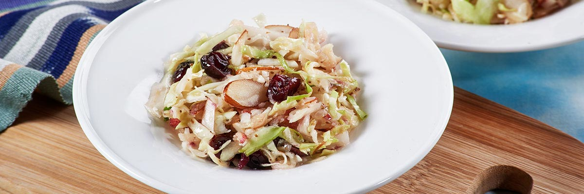 Apple Cranberry Slaw