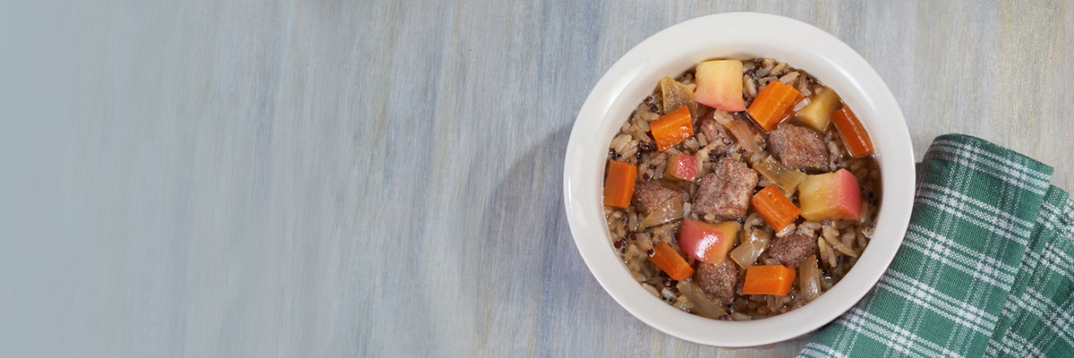 Chicken with Apples Carrots and Grains