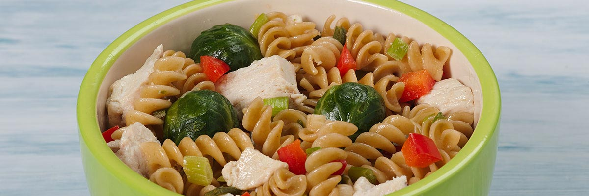 Chicken Pasta with Brussels Sprouts