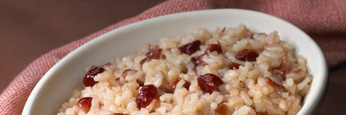 Cranberry and Roasted Garlic Risotto