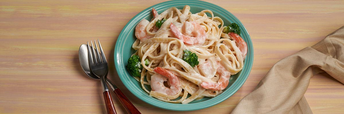 Creamy Shrimp and Broccoli Fettucini