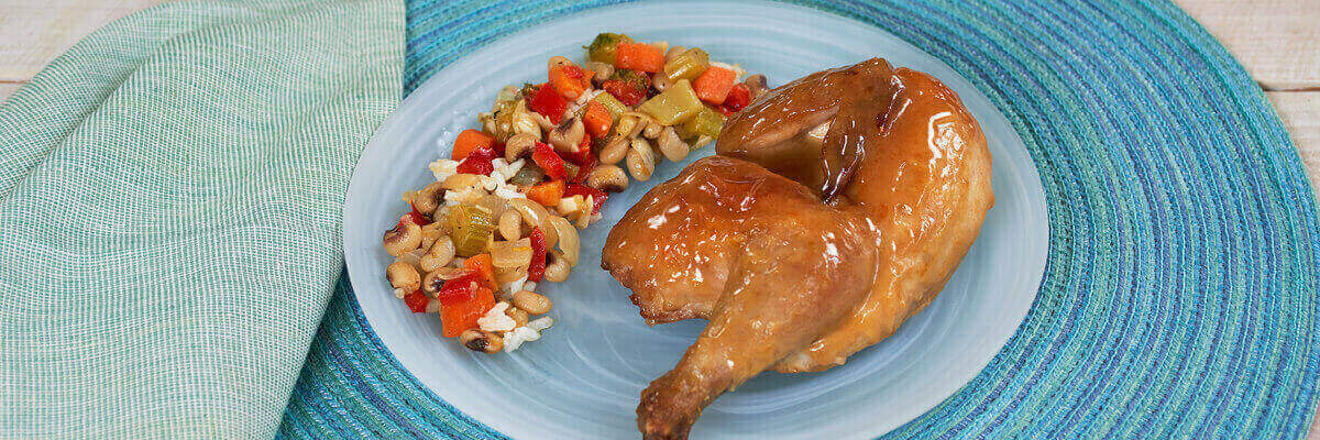 Glazed Cornish Game Hen for Two