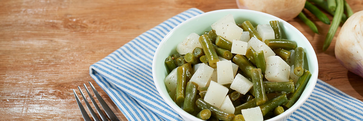 Green Beans with Turnips