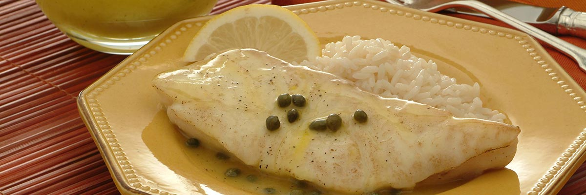 Halibut with Lemon Sauce