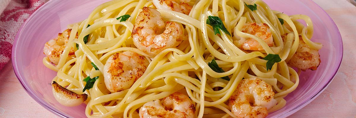 Linguini with Garlic and Shrimp