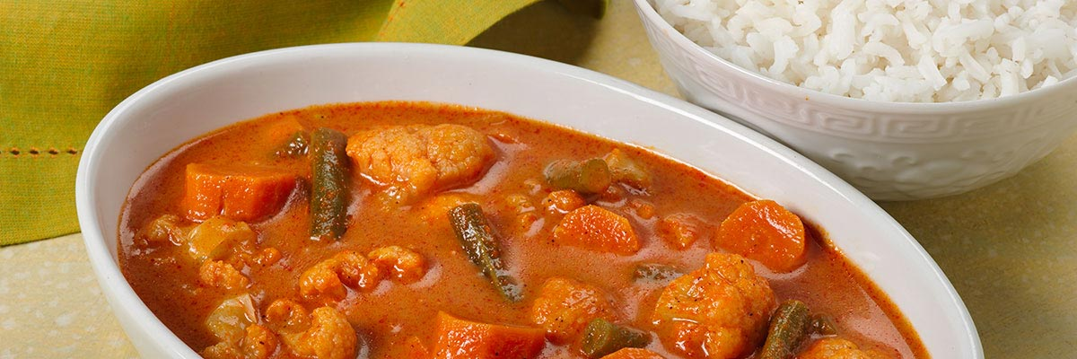 Thai Red Curry Vegetables Rice
